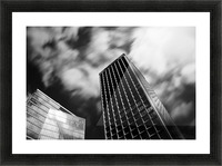 Black and white tower Picture Frame print