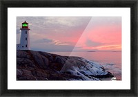 Peggys Cove Winter Sunset Picture Frame print