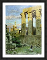 Temple of Luxor, with Abu al Haggag Mosque Picture Frame print