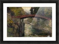 The sacred bridge in Nikko Picture Frame print