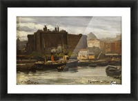 In the port of Naples Picture Frame print