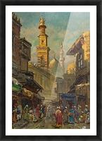 Oriental street scene Picture Frame print