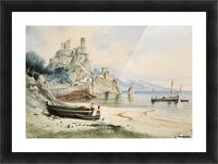 Sicilian Coastal Landscape Picture Frame print