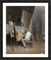 Le peintre dans son atelier Picture Frame print
