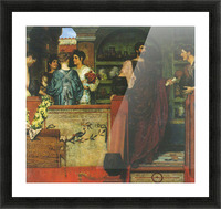 Hadrian visiting a Roman-British pottery by Alma-Tadema Picture Frame print