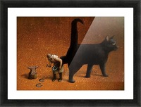Black cat Picture Frame print
