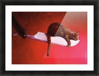 Razor  Cat Picture Frame print