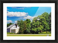 Storm Clouds Over the Barn 1 Picture Frame print
