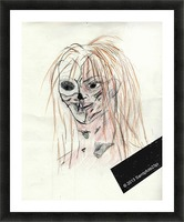 Zombie Picture Frame print