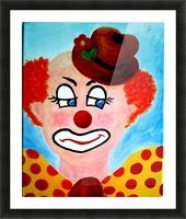 Masker, The sad Clown Picture Frame print