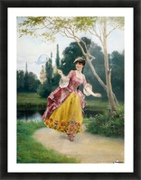Outside the palace Picture Frame print