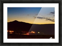 The Lonely Mountain Picture Frame print