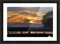 Sunset on the Shores of Ticonderoga Picture Frame print