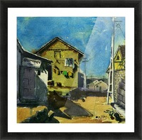 Village huts Picture Frame print