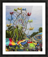 Strange Days at the County Fair Picture Frame print