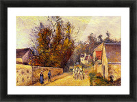 La Diligence, Route dEnnery by Pissarro Picture Frame print