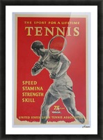 United States Lawn Vintage Tennis Poster in 1956 Picture Frame print