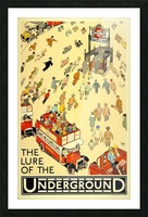Vintage Travel Poster London Underground Picture Frame print