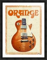 Orange vintage advertising poster Picture Frame print