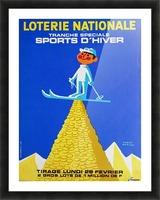 Loterie Nationale original vintage poster ski winter sport Impression et Cadre photo