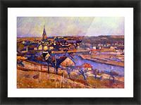 Landscape of Ile de France by Cezanne Picture Frame print