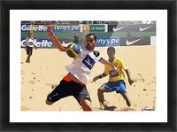 Beach football_05 Picture Frame print