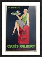 Cafes Gilbert original vintage food poster from France Picture Frame print
