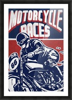 Motorcycle Racing Vintage Poster Picture Frame print
