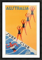 Australia Surf Club poster Picture Frame print