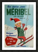 Original vintage poster ski winter sport Meribel Picture Frame print