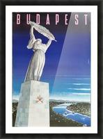 Original vintage poster Budapest Picture Frame print