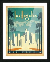 Los Angeles California travel poster Picture Frame print