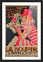 La Houppa Original Vintage advertisement lithograph poster Picture Frame print