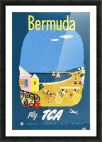 Bermuda Travel Poster for Fly Trans Canada Airline Picture Frame print