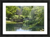 Bridge over pond Picture Frame print