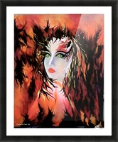 Lonely Angel of God Picture Frame print