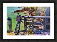 beach  bike  Picture Frame print