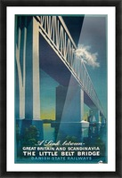 Vintage travel poster for Danish State Railways Picture Frame print