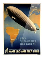 Graf Zeppelin to Argentina Picture Frame print