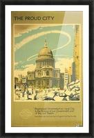 London Underground WW2 vintage poster Picture Frame print