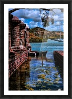nelsons dockyard antigua Picture Frame print