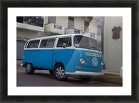 The blue VW van Picture Frame print