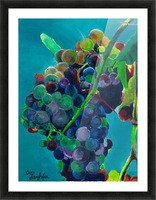 Grapes Picture Frame print