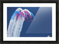 Red Arrows Picture Frame print
