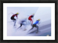 Speed Skating 1 Picture Frame print