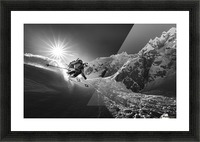 Snow splash over the edge Picture Frame print