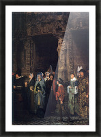 Leaving a church in the 15th Century by Alma-Tadema Picture Frame print