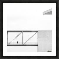 across the bridge Picture Frame print