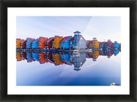 Colored homes Picture Frame print