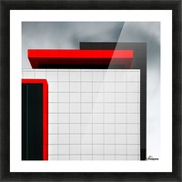 structure wal Picture Frame print